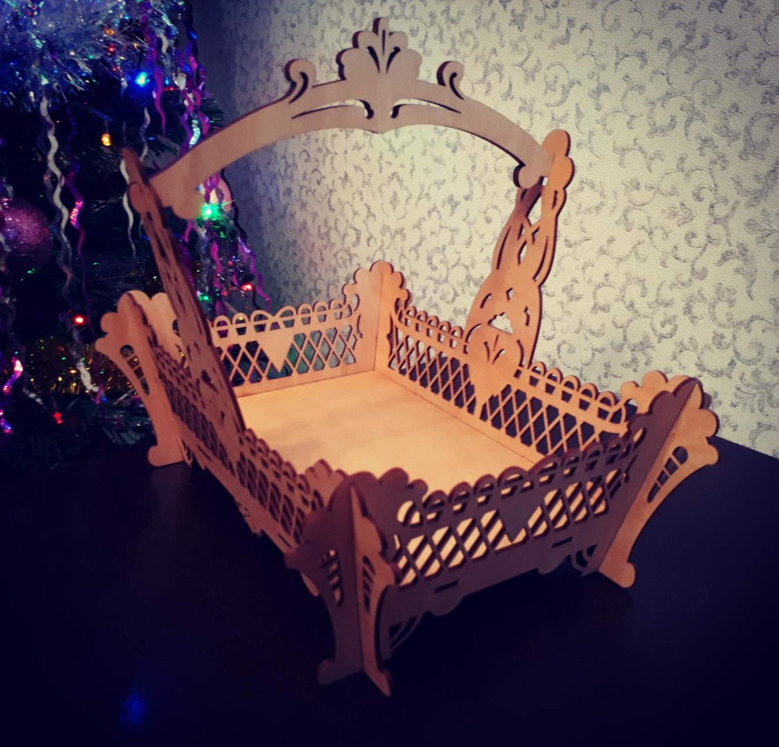 Laser Cut Fruit Basket With Handle Free Vector