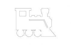 Railway Engine dxf file