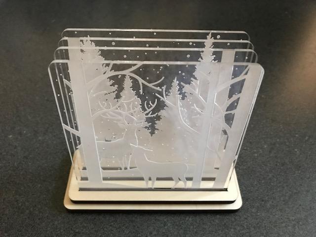 Laser Cut Shadow Box Coasters SVG File