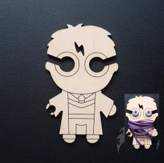 Harry Potter Earbud Holder Laser Cut Template DXF File