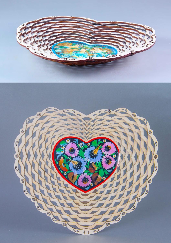 Laser Cut Flower Fruit Basket Candy Basket DXF File
