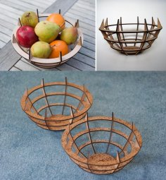 Laser Cut Fruit Bowl Template Free Vector