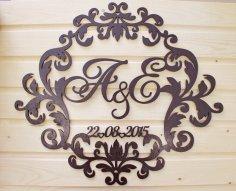 Laser Cut Decorative Wedding Invitations Souvenirs Free Vector