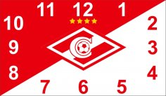Laser Cut Spartak Moscow Sport Fans Gift Wall Clock Free Vector
