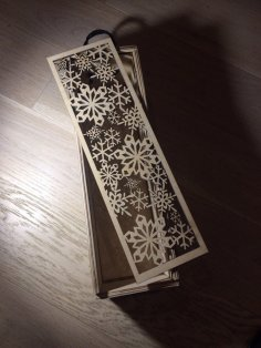 Laser Cut Wine Bottle Box With Sliding Lid Snowflake Design Free Vector