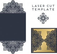 Laser Cut Christmas Greeting Card Design Template Free Vector
