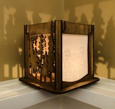 Laser Cut Lamp Lithopane Trees Template PDF File