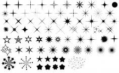 Stars Vector Set Free Vector