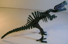 Spinosaurus Dinosaur 3D Puzzle DXF File