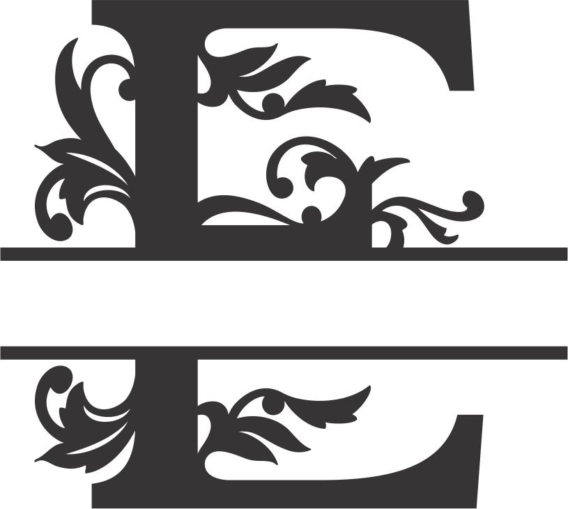 Regal Split Font E DXF File