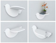 Bird Shelf 20mm Laser Cut Free Vector