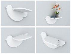 Bird Shelf 20mm Laser Cut Free Vector