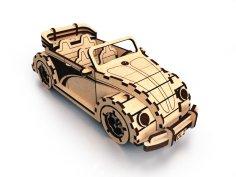 Laser Cut Wooden Volkswagen Fusca Cabriolet DXF File