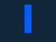 Tetris block I stl file
