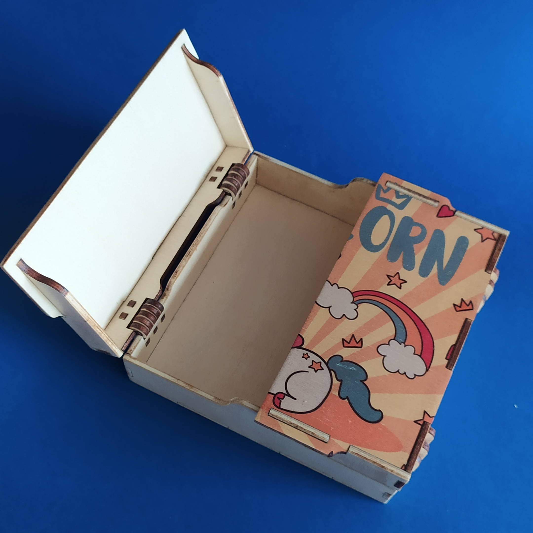 Laser Cut Box With Hinged Lid Free Vector