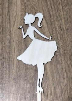 Laser Cut Princess Cake Topper Free Vector