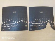Laser Cut Custom Postcard Free Vector