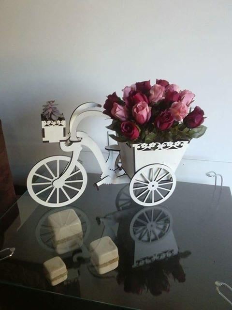 Laser Cut Tricycle Flower Basket Free Vector