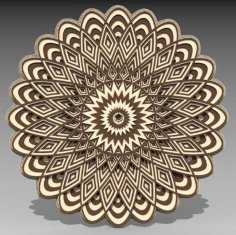Laser Cut 3D Layered Mandala Free Vector
