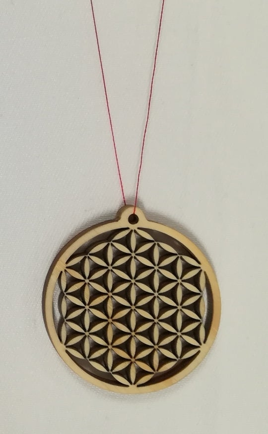 Laser Cut Flower Of Life Pendant DXF File