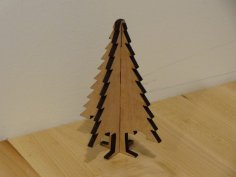 Laser Cut Christmas Tree Ornament Plywood DXF File