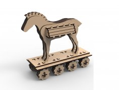 Laser Cut Trojan Horse Free Vector