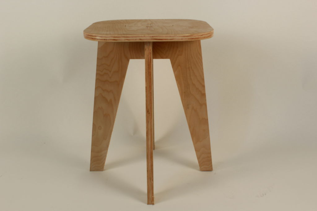 Laser Cut Wooden Stool Template Free Vector