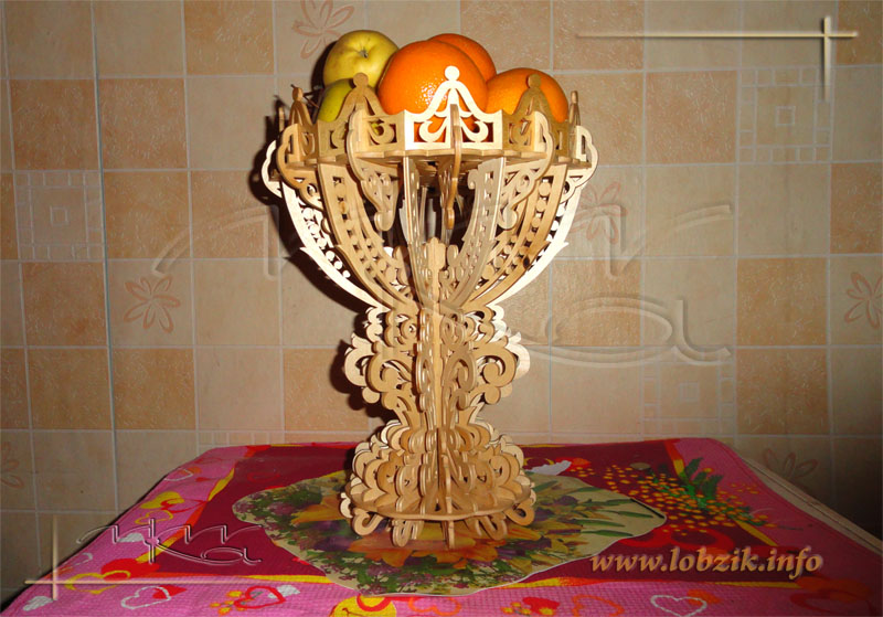 Decorative Vase Fruit Bowl With Stand Laser Cut Scroll Saw Plans Free Vector