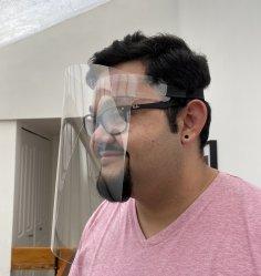 Laser Cut Single Piece Face Shield PPE DXF File