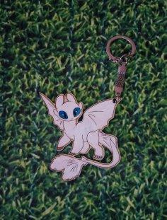 Laser Cut Toothless Nightfury White Fury Keychain Free Vector