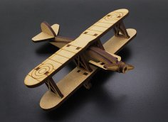 Laser Cut Biplane Template CNC Plans Free Vector