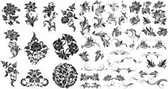 Flower Floral Set Free Vector