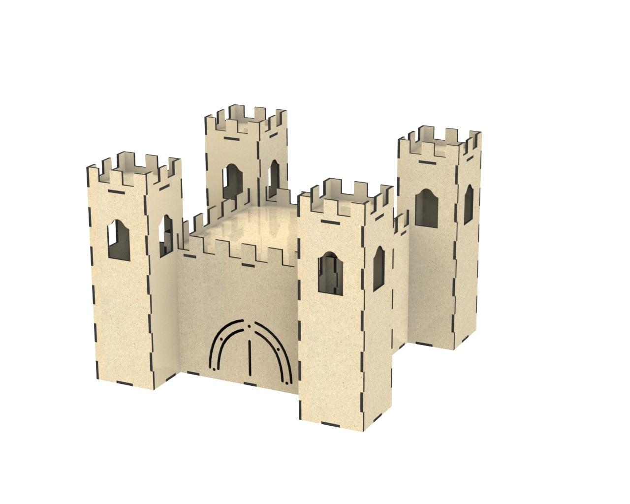 Laser Cut Castle Free Vector