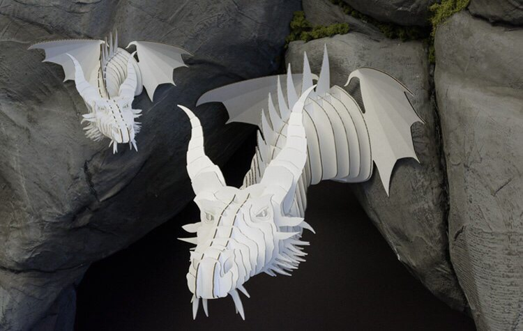 Laser Cut Dragon Head Template Free Vector