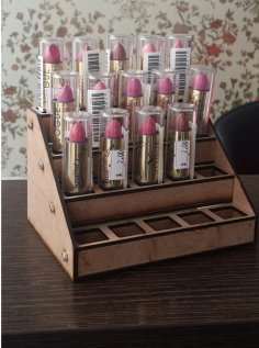 Laser Cut Lipstick Holder Display Rack Free Vector