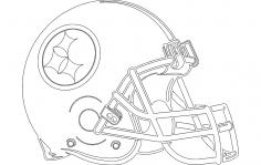 Football Helmet Silhouette dxf File
