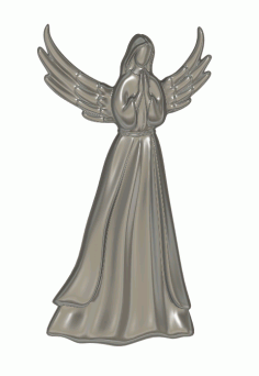 Angel 3D Model Relief for CNC stl File