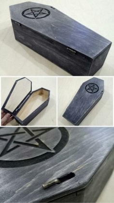 Laser Cut Coffin 4mm Template Free Vector