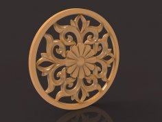 Carved Decor Central 3D Model For CNC Router Stl File