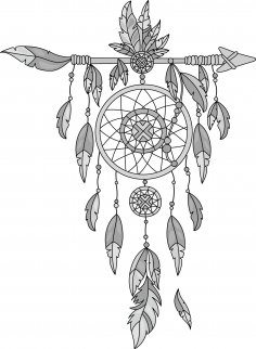 Dreamcatcher Grey Vector Free Vector