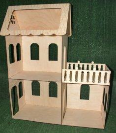 Laser Cut Simple Miniature Dollhouse Kit 3mm Free Vector