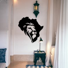 Laser Cut African Lion Wall Decor DXF File
