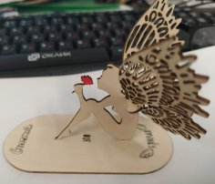Laser Cut Wooden Angel Table Decor DXF File