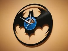 Orologio Vinile Batman Clock dxf file
