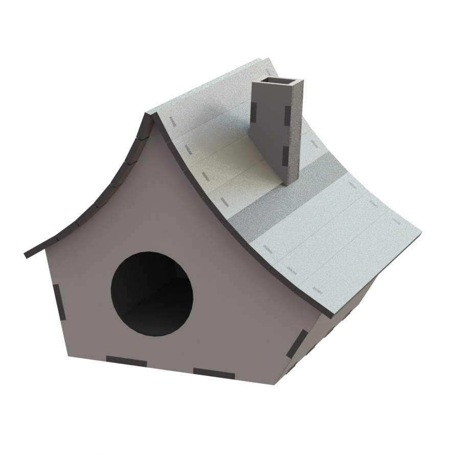 Laser Cut Wooden Birdhouse Free Vector