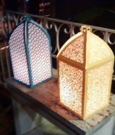 Laser Cut Paper Arabesque Lantern DXF File