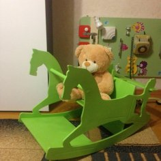 Laser Cut Baby Kids Rocking Horse Chair 10mm Free Vector