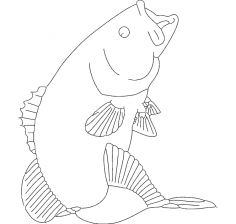 Bass Small mouth dxf file