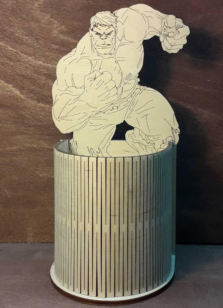 Laser Cut Hulk Pencil Holder Hulk Gift Desk Organizer Free Vector