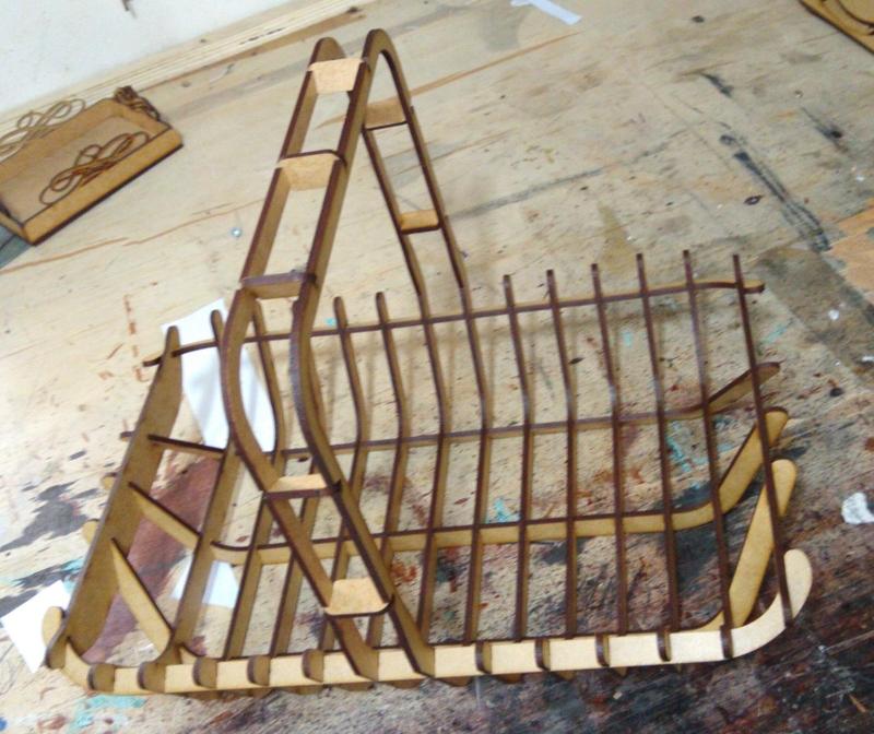 Laser Cut Wooden Basket 3mm DXF File